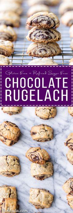 Chocolate Rugelach (Gluten Free + Refined Sugar Free