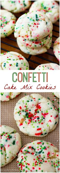 Confetti Cake Batter Cookies