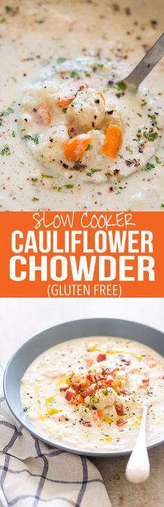 Creamy Cauliflower Chowder (30 minute and Gluten Free