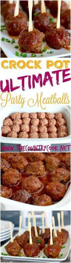 Crock Pot Ultimate Party Meatballs