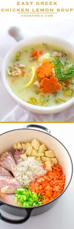 Easy greek chicken lemon soup