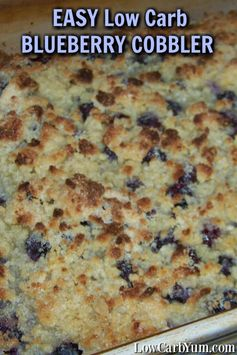 Easy Low Carb Blueberry Cobbler