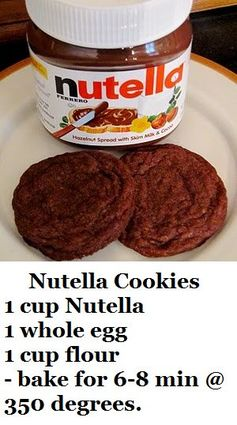 Easy Nutella Cookies - Only 4 Ingredients
