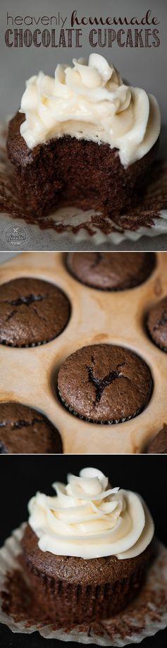 Heavenly Homemade Chocolate Cupcakes