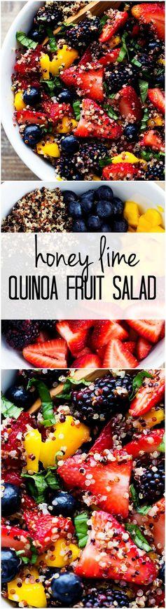Honey Lime Quinoa Fruit Salad
