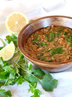 Lentil Spinach Soup with Lemon