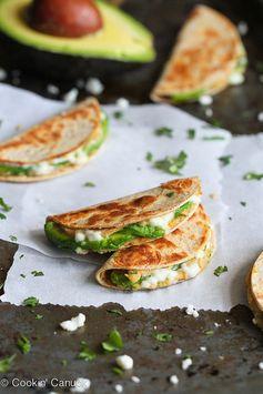 Mini Avocado & Hummus Quesadilla Recipe (Healthy Snack