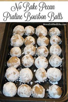 No Bake Pecan Praline Bourbon Balls