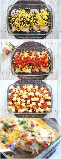 One Dish Queso Chicken Bake (Easy Dinner