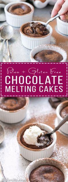 Paleo Chocolate Melting Cakes