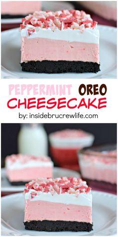 Peppermint Oreo Cheesecake