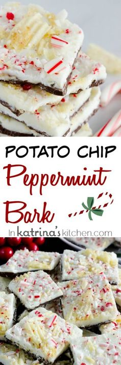 Potato Chip Peppermint Bark