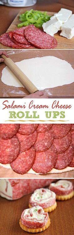 Salami & Cream Cheese Roll-Ups
