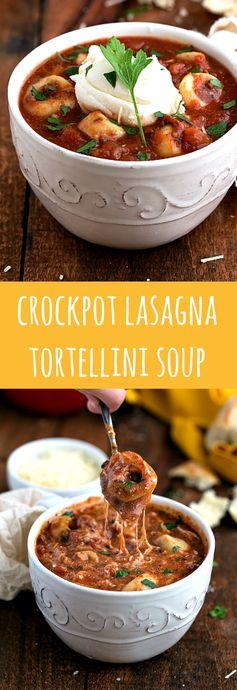 (Slow Cooker Lasagna Tortellini Soup