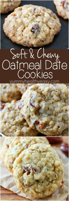 Soft & Chewy Oatmeal Date Cookies