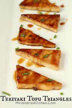 Teriyaki Tofu Triangles