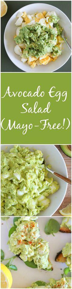Avocado Egg Salad (mayo-free!