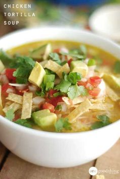 Cafe Rio-Inspired Chicken Tortilla Soup