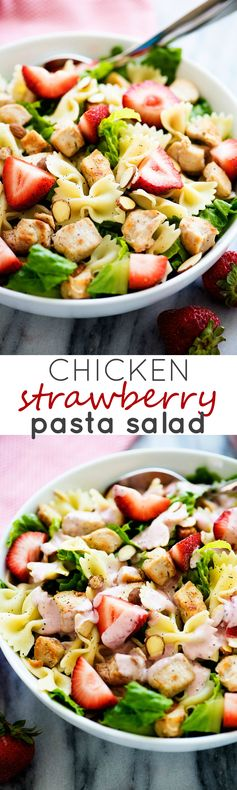 Chicken Strawberry Pasta Salad