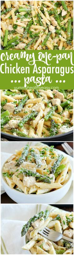 Creamy One-Pan Chicken Asparagus Pasta