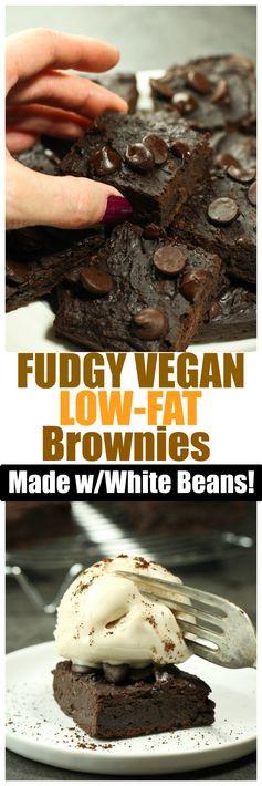 Fudgy Vegan Low-Fat Brownies