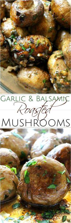 Garlic and Balsamic Roasted Mushrooms