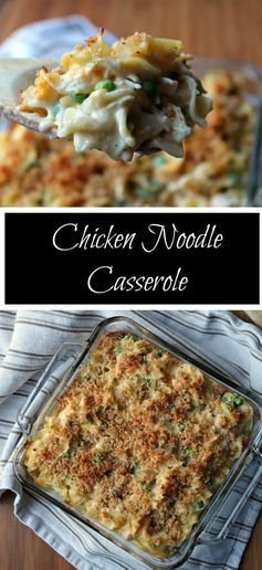 Just Like Your Grandma's Chicken Noodle Casserole