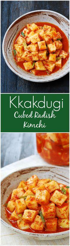 Kkakdugi (Cubed Radish Kimchi
