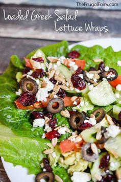 Loaded Greek Salad Lettuce Wraps