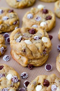 Soft-Baked Triple Chocolate Chip Cookies