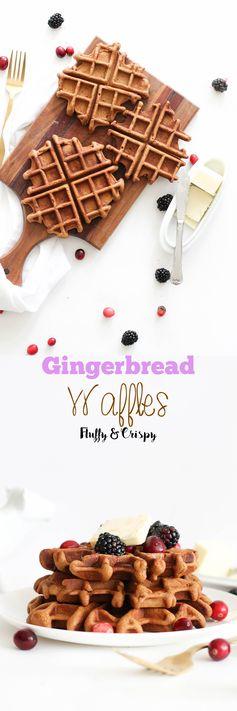 6 Ingredient Gingerbread Waffles
