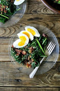 Alice Waters's Warm Spinach Salad