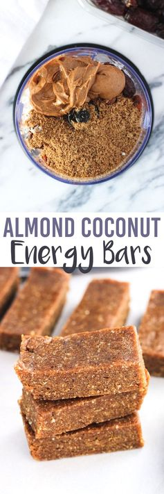 Almond Coconut Energy Bars