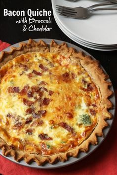 Bacon Quiche with Broccoli & Cheddar