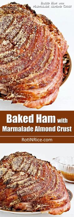 Baked Ham with Marmalade Almond Crust