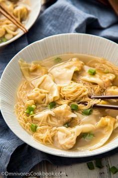 Cantonese Wonton Noodle Soup (港式云吞面