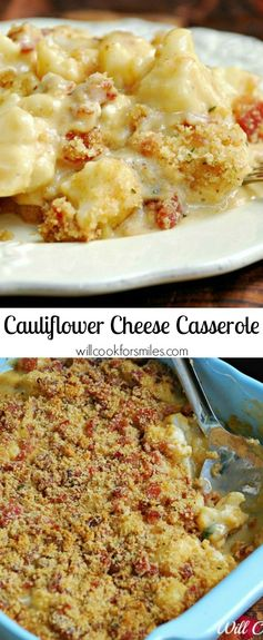 Cauliflower Cheese Casserole and Cheesy Biscuits (Two Recipes