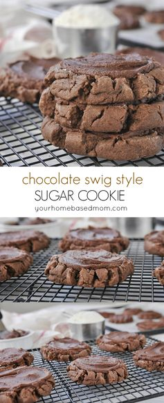 Chocolate Swig Style Sugar Cookies