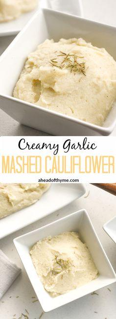 Creamy Garlic Mashed Cauliflower