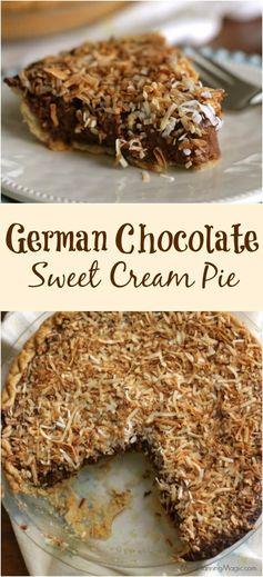 German Sweet Chocolate Cream Pie