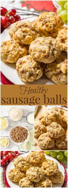 Healthy sausage biscuit balls