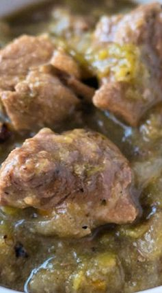 Pressure Cooker Chili Verde (Green Pork Chili