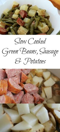 Slow Cooker Green Beans, Sausage & Potato Dinner