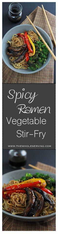 Spicy Ramen Mushroom Stir-Fry