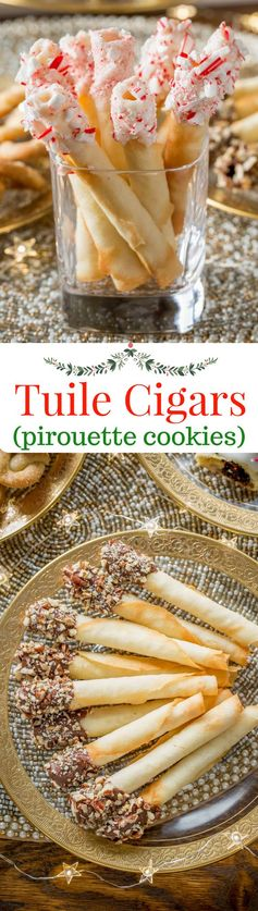 Tuile Cigar Cookies (Pirouettes
