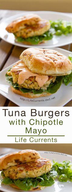 Tuna Burgers with Chipotle Mayonnaise