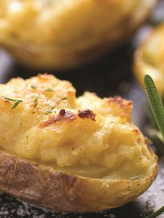 Twice Baked Hummus Potatoes with Rosemary