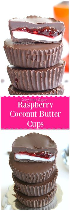 Vegan Raspberry Coconut Butter Cups