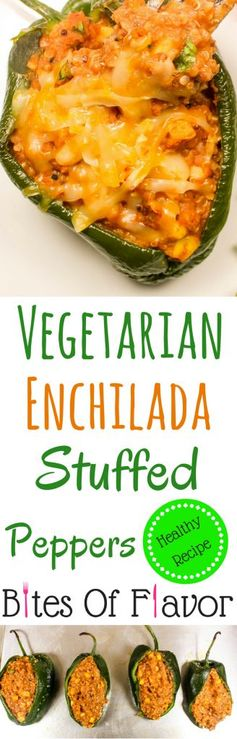 Vegetarian Enchilada Stuffed Peppers