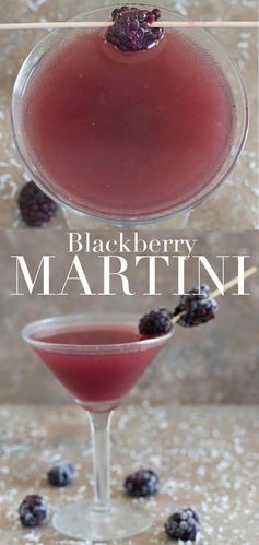 Blackberry Martini With Island Flavors